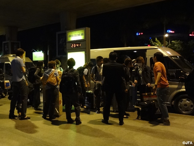 Nadeshiko Japan arriving In Vietnam for the AFC Women's Asia Cup