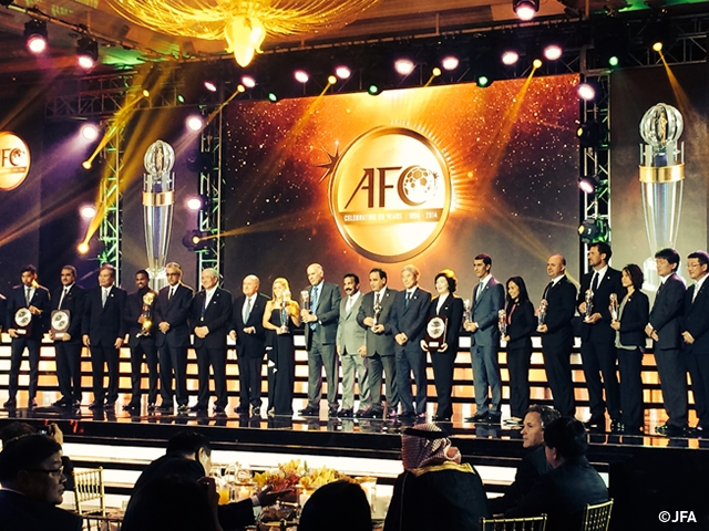 AFC Annual Awards 2014 - Japan awarded 6 categories in AFC Inspiring Member Association of The Year, etc., OKUDERA Yasuhiko, SAWA Homare inducted in the AFC Hall of Fame