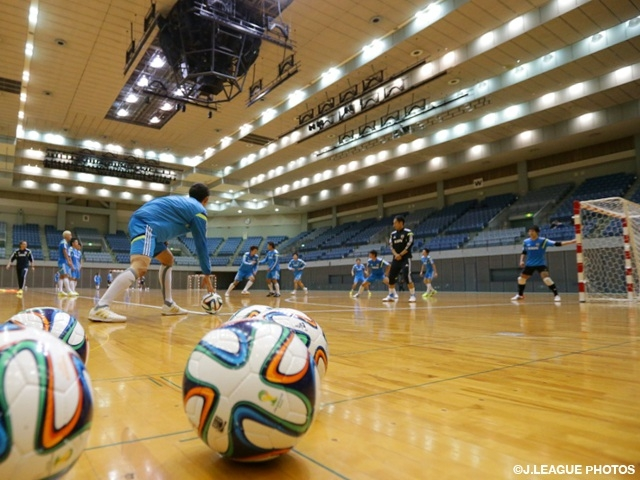 Futsal Japan squad begin training camp before Croatia games