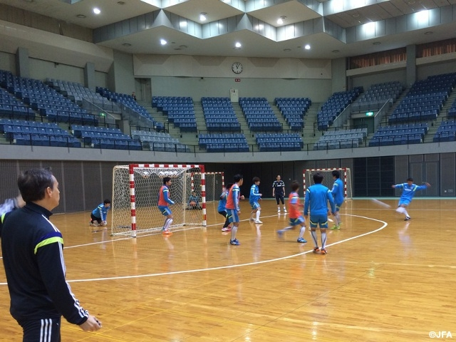 Japan's futsal team wrap up training camp, set for Croatia match