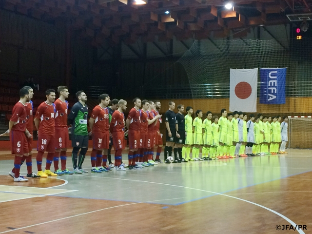 866aa310ee Japan Futsal National Team win international friendly 1st leg against Czech  Republic on Europe trip