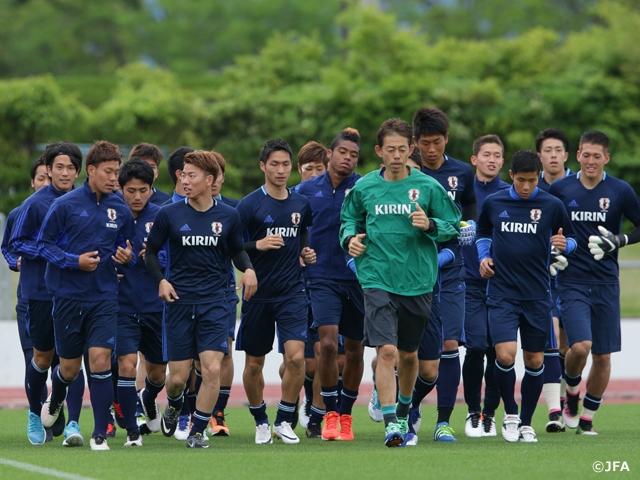 U-23代表チーム、ガーナ戦へ合宿...