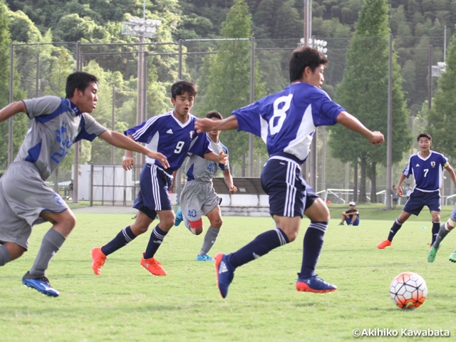 U-16 Japan National Team win two consecutive games at training camp in preparation for 2016 AFC U-16 Championship in India