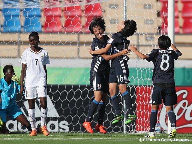 U-17日本女子代表、大量5得点で...