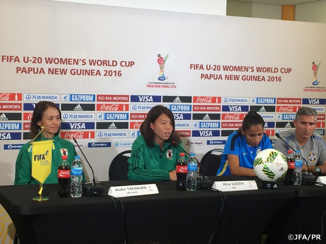 U-20 Japan Women's National Team met with press prior to quarterfinal in FIFA U-20 Women's World Cup Papua New Guinea 2016 against Brazil