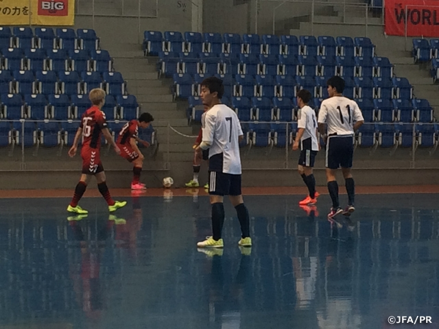 U-19 Japan Futsal National squad play practice match in second day of training camp