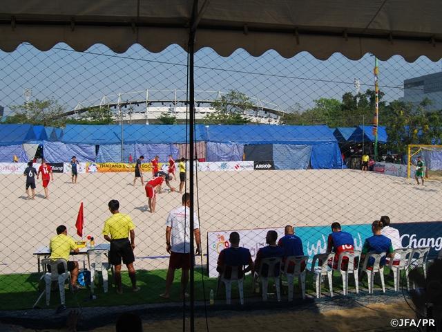 ビーチサッカー日本代表タイ遠征 ハンガリーとの初戦を制す