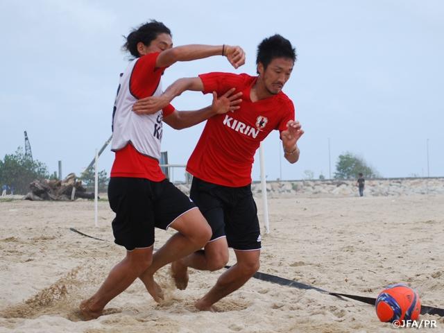 ビーチサッカー日本代表、大会に向けてトレーニング AFCビーチサッカー選手権