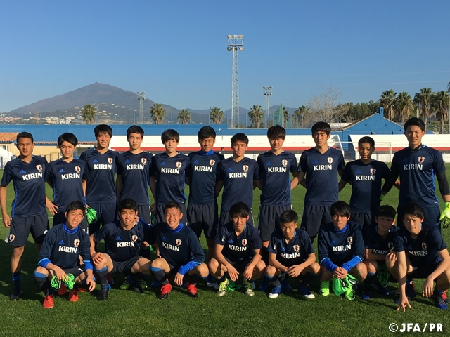 U-17 Japan National Team finish Spain tour with two wins and three draws