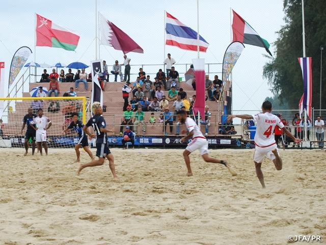 ビーチサッカー日本代表、UAEに敗れるも準決勝に進出 AFCビーチサッカー選手権