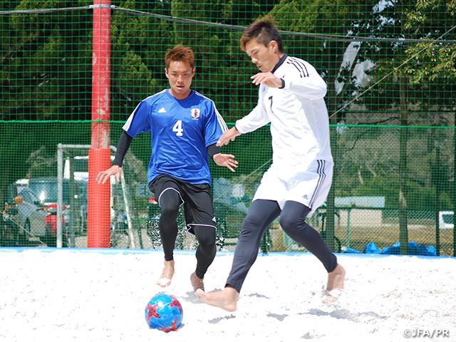 ビーチサッカー日本代表候補 横浜合宿 ビーチサッカークリニック選抜とのトレーニングマッチで2連勝