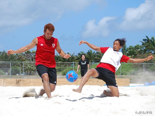 ビーチサッカー日本代表 第2戦・タヒチ戦に向けてトレーニング