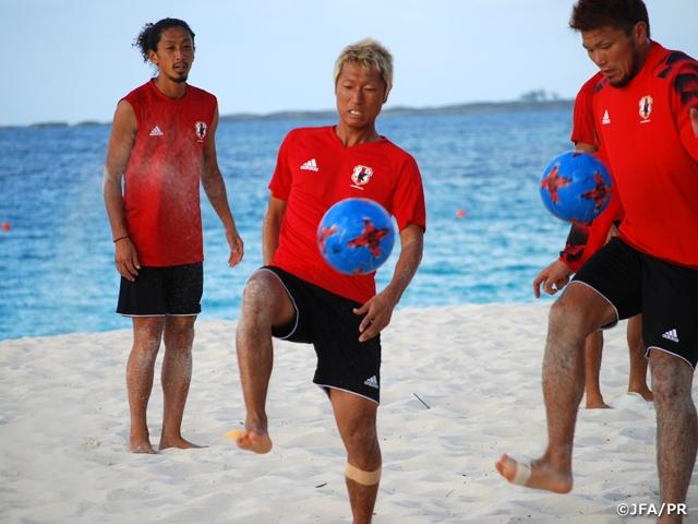 ビーチサッカー日本代表 ブラジルとのグループステージ最終戦に備え最終調整