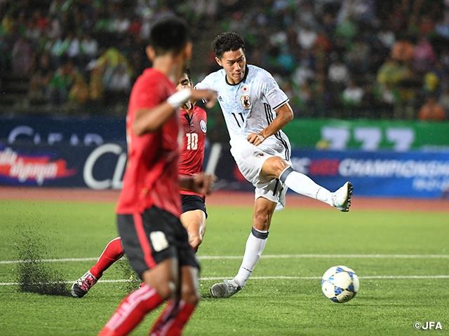 U-20日本代表 2-0でカンボジア代...