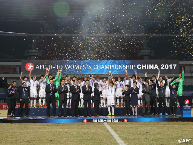 U-19 Japan Women's National Team defend Asian title and become crowned champions for fifth time in AFC U-19 Women's Championship