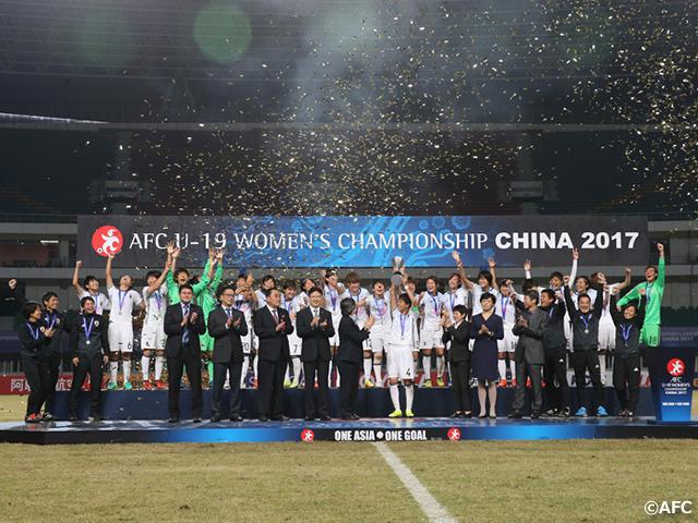 U-19日本女子代表 大会連覇、5度目の優勝に輝く~AFC U-19女子選手権~