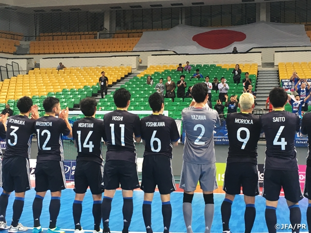 Japan Futsal National Team grab convincing win over Chinese Taipei and get through group stage in first place at AFC Futsal Championship Qualifiers