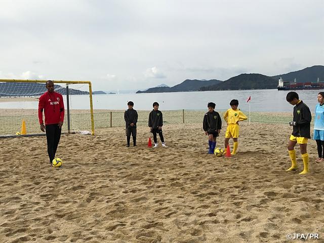 JFAビーチサッカー巡回クリニックを広島で開催