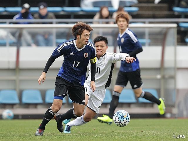 U-21日本代表、大学選抜を相手に...