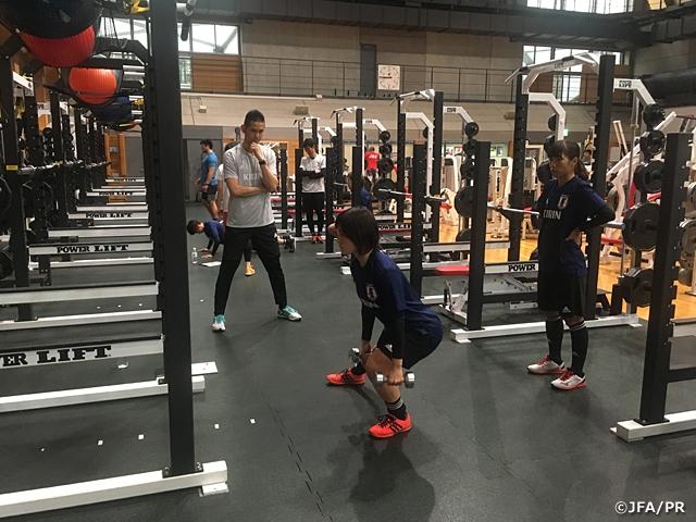 なでしこジャパン候補 連日の筋力トレーニングでフィジカル強化に取り組む