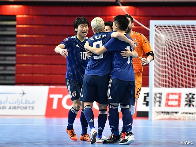 Japan Futsal National Team opens the AFC Futsal Championship Chinese Taipei 2018 with a win against Tajikistan