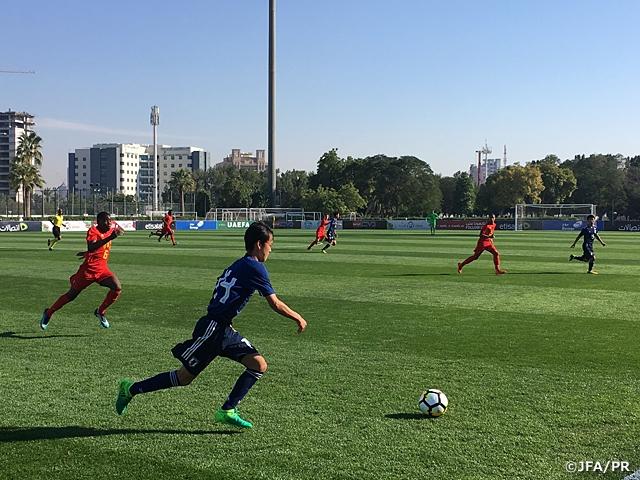 U-16日本代表 UAE遠征初戦ベルギー代表と対戦 ~U16 Four Nations Tournament~