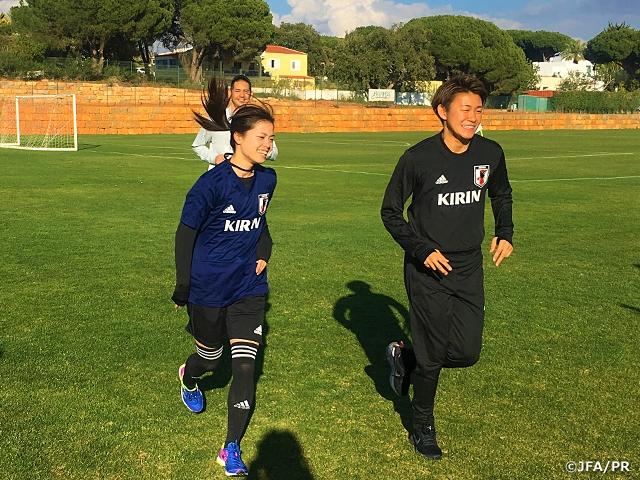 なでしこジャパン ポルトガルに到着、海外組も合流してアルガルベカップ開幕に向けて精力的にトレーニング