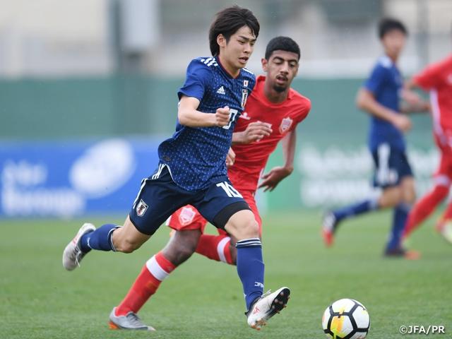 U-17日本代表、大量14得点でU-17バーレーン代表に勝利 優勝で大会を終える~UAEフットボールカップ~