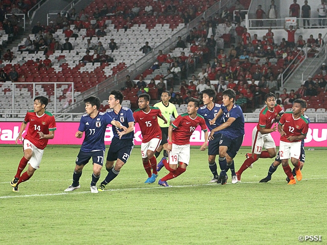 U-19日本代表 地元インドネシアに快勝