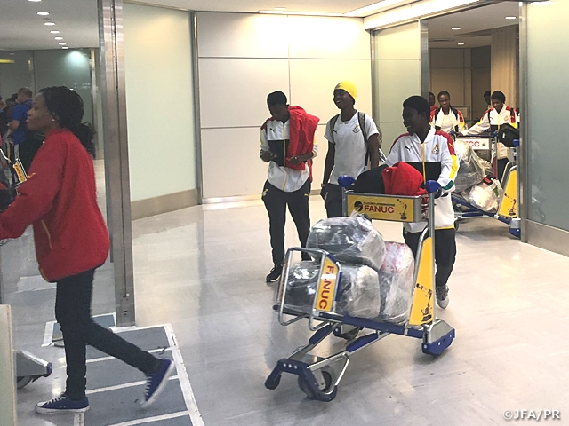 Ghana Women's National Team arrives to Japan ahead of MS&AD Cup 2018