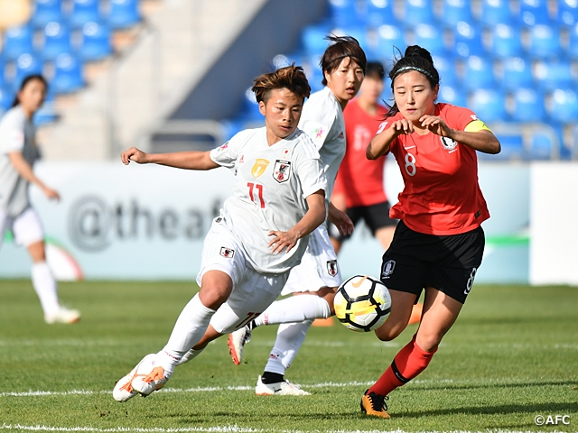 Nadeshiko Japan's match against Korea Republic ends in a scoreless draw at AFC Women's Asian Cup Jordan 2018