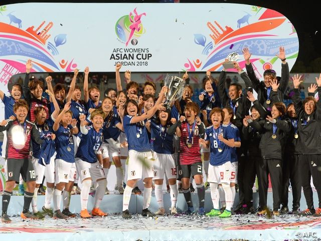 Nadeshiko Japan repeats as Champions with 1-0 victory over Australia at AFC Women's Asian Cup Jordan 2018 Final
