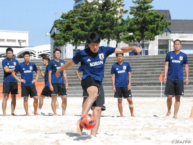 ビーチサッカー日本代表候補、3日間のトレーニングキャンプを終える
