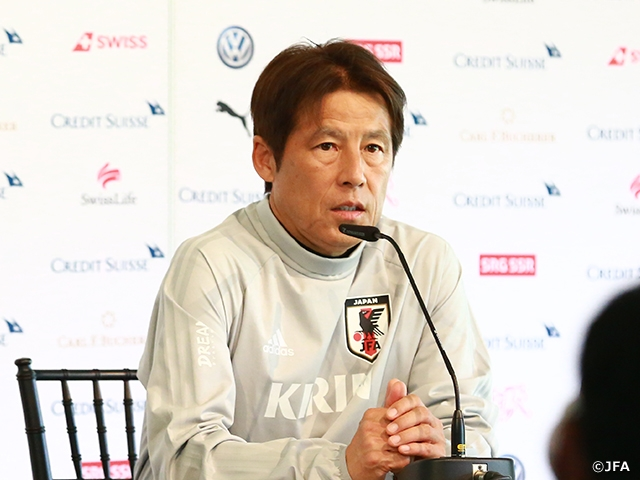 "Coach Nishino on Switzerland match, ""it will be an important test match ahead of the World Cup"""