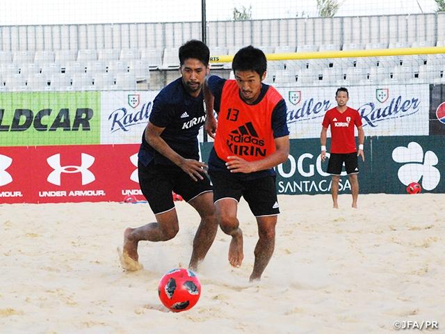 ビーチサッカー日本代表ポルトガル遠征 今年最初の国際大会に向けてトレーニングを開始