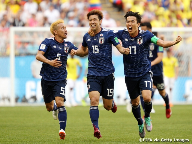 SAMURAI BLUE (Japan National Team) wins against Colombia with goals from Kagawa and Osako