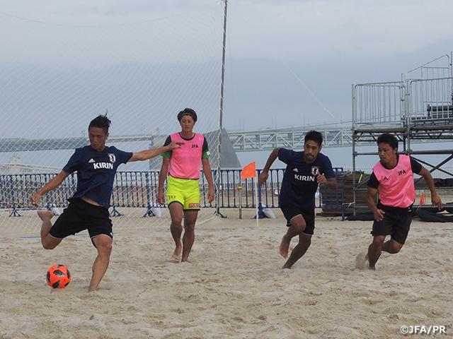 ビーチサッカー日本代表、明石合宿3日目 JFAビーチサッカー選抜クリニックとトレーニングマッチを実施
