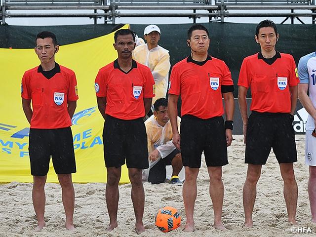 国際親善試合 ビーチサッカー日本代表 vs ビーチサッカーイングランド代表担当審判員