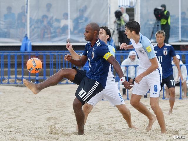 ビーチサッカー日本代表、イングランド代表との練習試合で逆転勝利