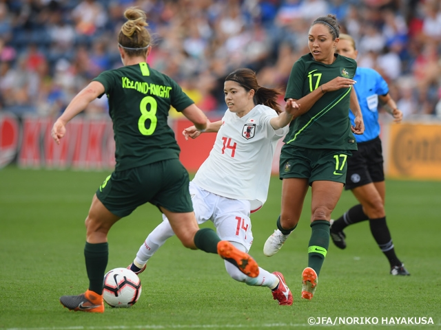Nadeshiko Japan (Japan Women's National Team) loses to Australia 0-2, finishing the 2018 Tournament of Nations with three losses