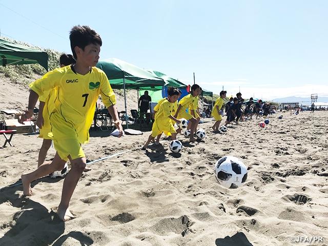 JFAビーチサッカー巡回クリニックを北海道にて開催
