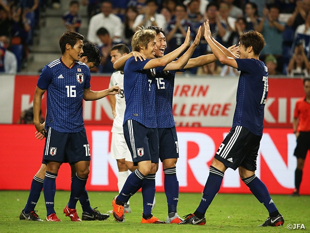 SAMURAI BLUE starts off new regime under Coach Moriyasu with a win against Costa Rica at the KIRIN CHALLENGE CUP 2018【9/11@Osaka vs Costa Rica】