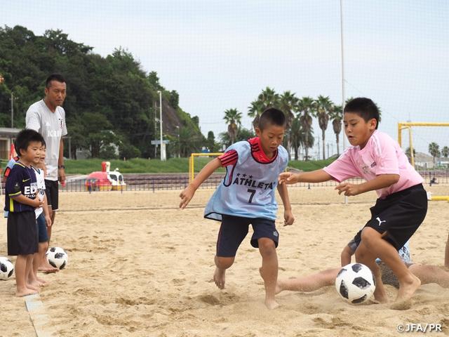 JFAビーチサッカー巡回クリニックを山口県で開催