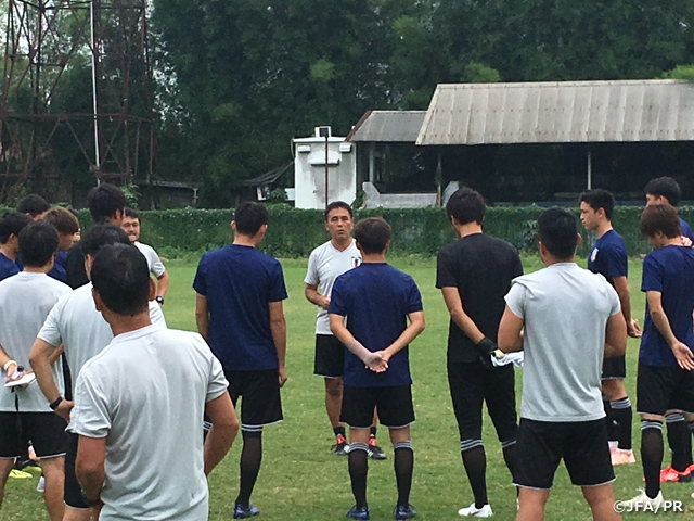 U-19 Japan National Team prepares ahead of the final group stage match against Iraq at AFC U-19 Championship Indonesia 2018