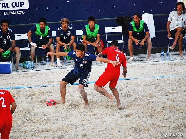 Japan Beach Soccer National Team beats Tahiti 3-1 in UAE Tour