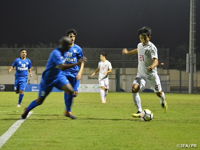 U-21 Japan National Team wins over Kuwait 5-0 at UAE Tour