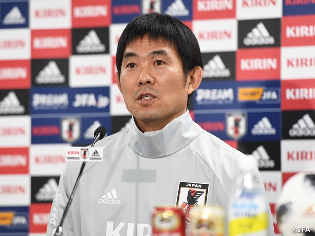 "SAMURAI BLUE's Coach Moriyasu to ""Showcase what we have been striving for"" vs Kyrgyz Republic National Team at KIRIN CHALLENGE CUP 2018"