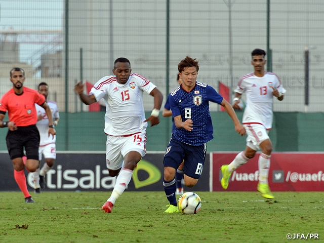 U-21 Japan National Team draws with UAE to finish in second place at Dubai Cup U-23 on UAE Tour (11/11-21)