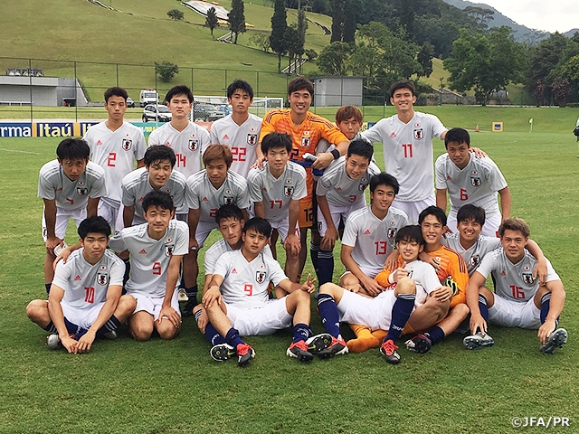U-19 Japan National Team finishes off 2018 with victory over Brazil