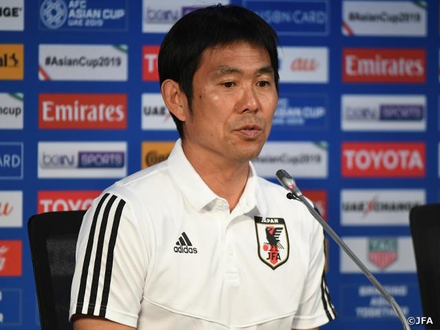 SAMURAI BLUE森保監督、ベトナム戦へ「いい準備ができている」~AFCアジアカップUAE2019(1/5~2/1)~